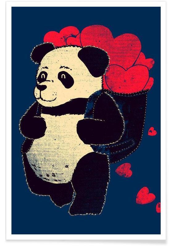 Cœurs, Pandas, Ready to travel affiche
