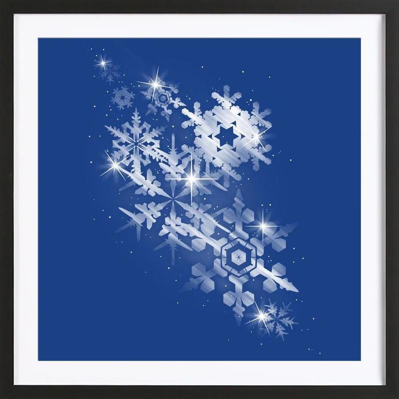 Snowflakes of hope Framed Print