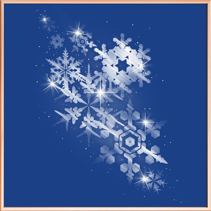 Snowflakes of hope Poster in Aluminium Frame