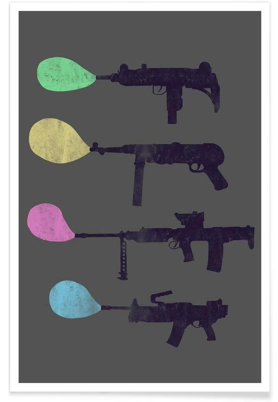 Bubble Guns Poster