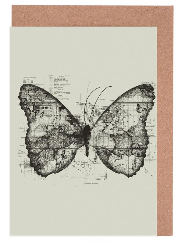 Butterfly effect Greeting Card Set