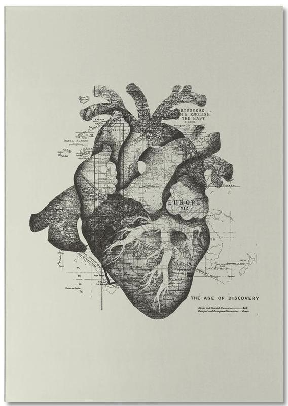 Noir & blanc, Rétro, Restless heart bloc-notes
