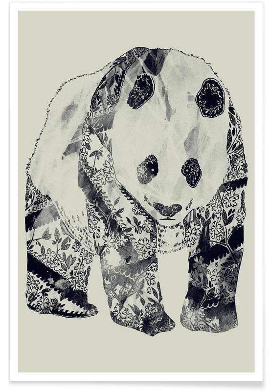 Noir & blanc, Pandas, Tattooed Panda affiche