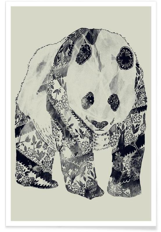 Schwarz & Weiß, Pandas, Tattooed Panda -Poster