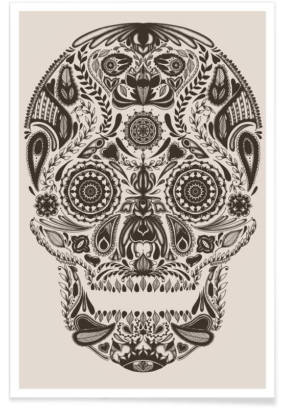 Schedels, Dia de los muertos poster