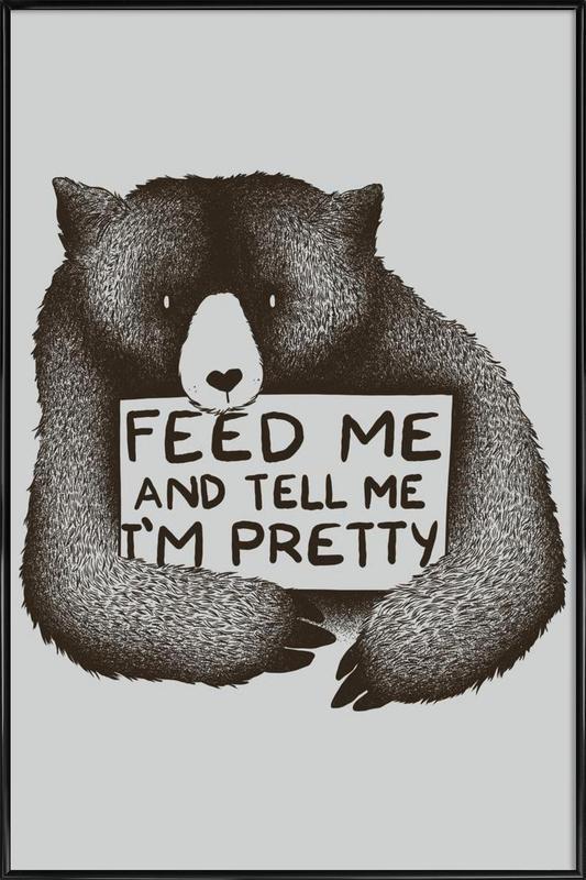 Feed Me affiche encadrée