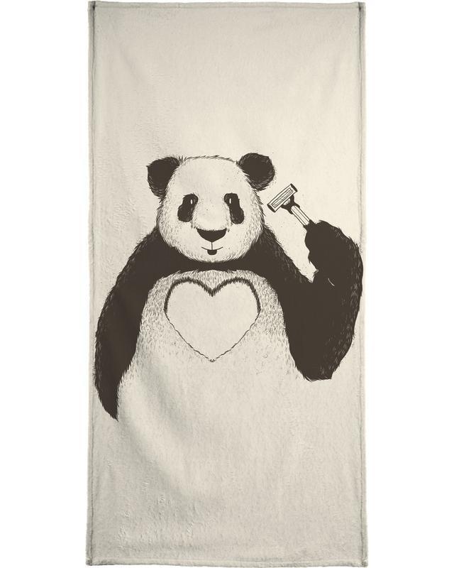 Panda Love -Handtuch