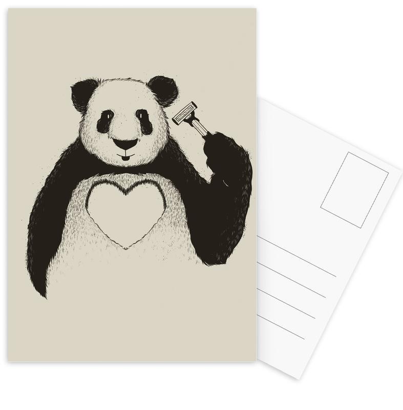 Panda Love -Postkartenset