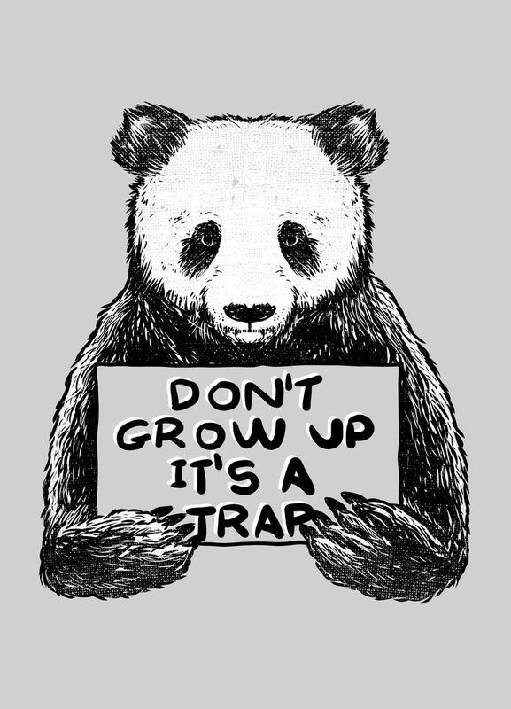 Don't Grow up canvas doek