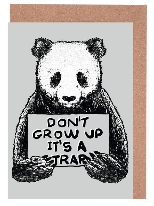 Don't Grow up Greeting Card Set