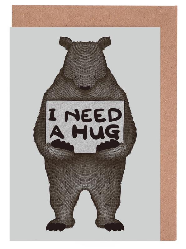 I Need a Hug cartes de vœux