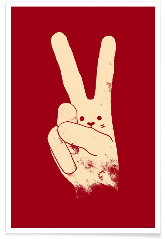 Kaninchen, Entschuldigung, Love, Peace and Carrots -Poster