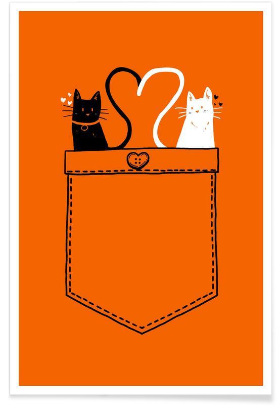 Valentijnsdag, Katten, Stellen, PoCats poster