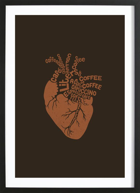 Coffee Lover Heart Framed Print