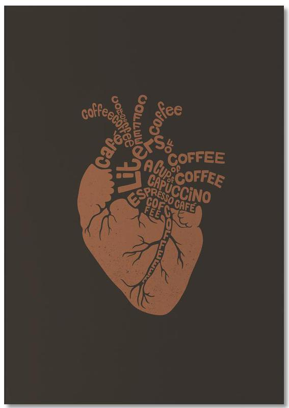 Coffee Lover Heart Notepad