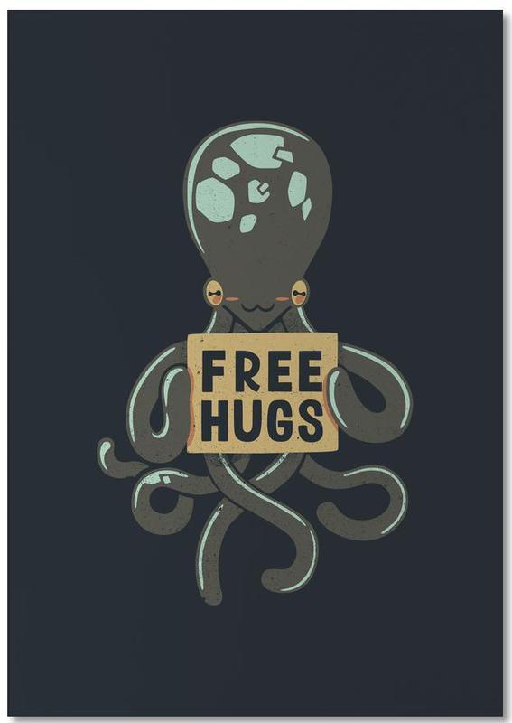 Free Hugs Octopus Notepad