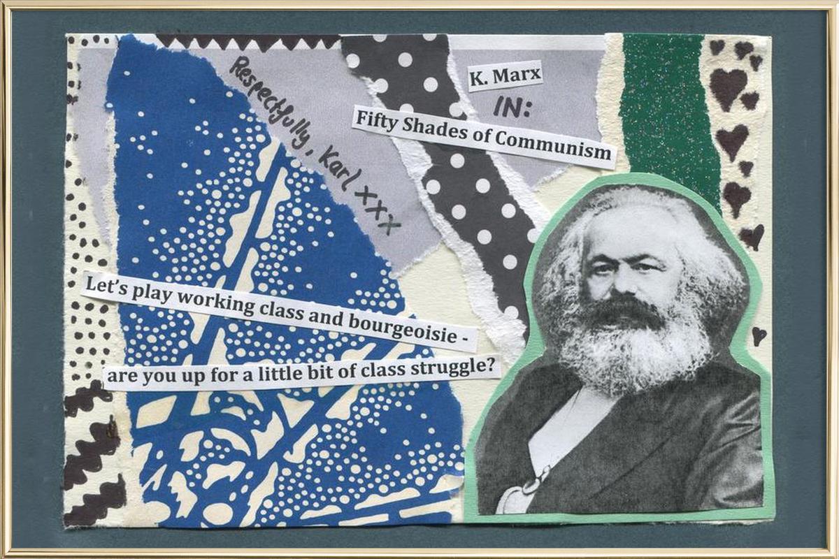 Karl Marx -Poster im Alurahmen