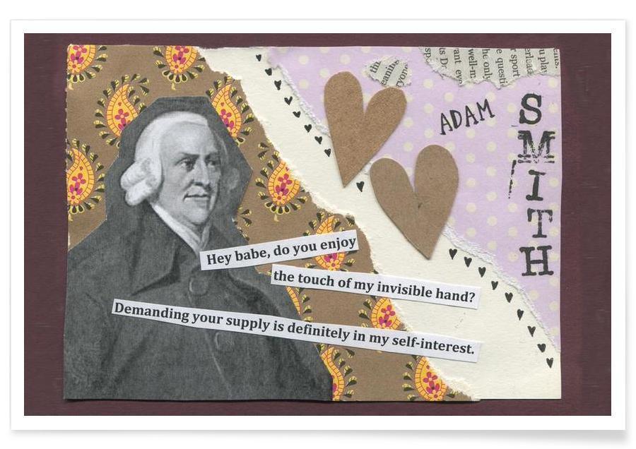Humour, Personnages politiques, Adam Smith affiche