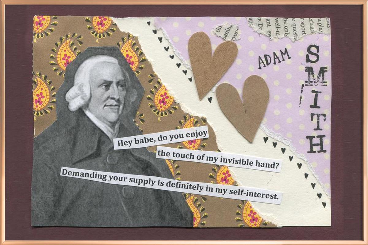 Adam Smith -Poster im Alurahmen