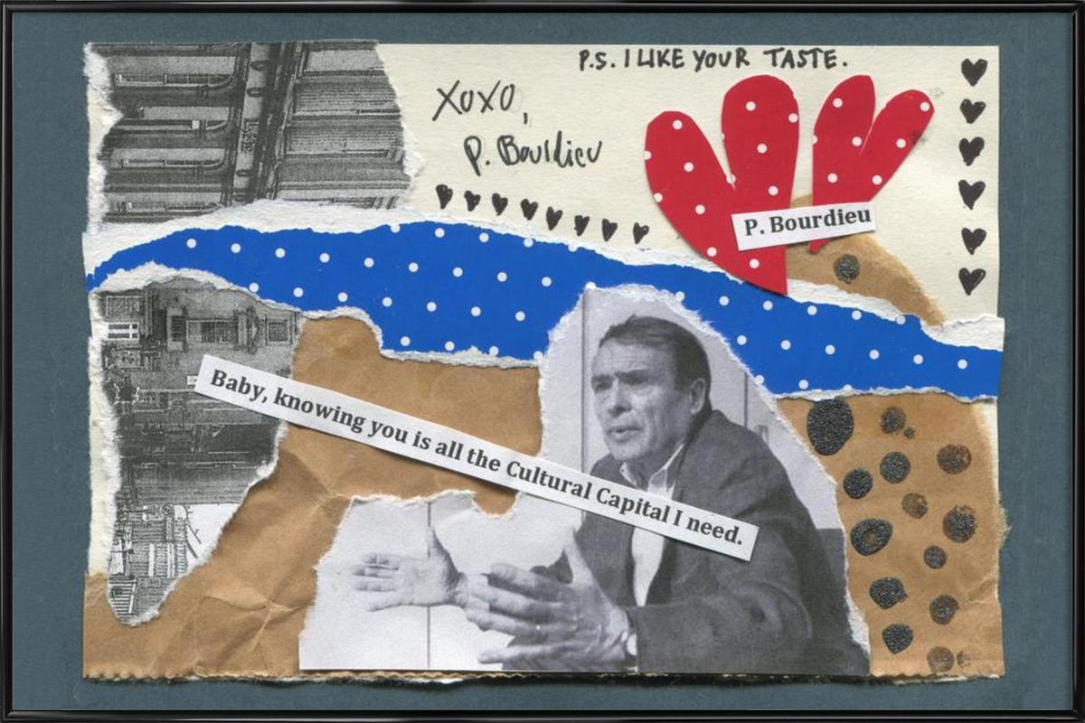 Pierre Bourdieu -Bild mit Kunststoffrahmen