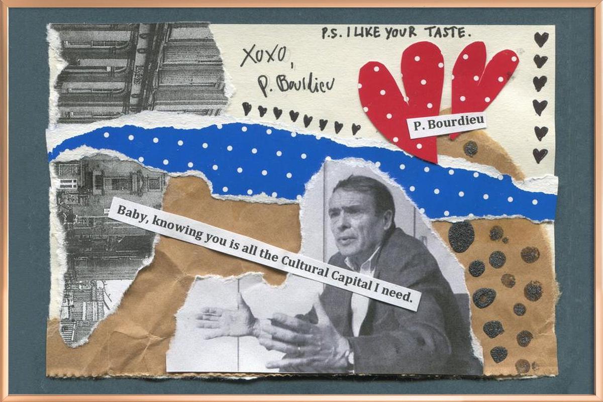 Pierre Bourdieu poster in aluminium lijst