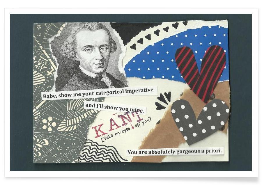 Personnages politiques, Immanuel Kant affiche