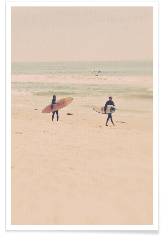 Beaches, Surfing, Two Surfers Poster