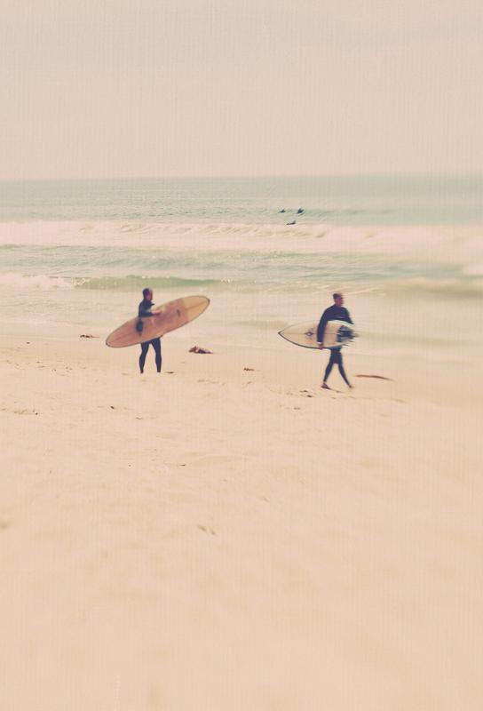 Two Surfers tableau en verre