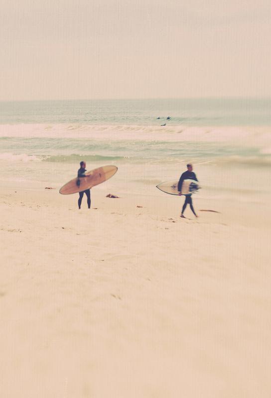 Two Surfers Impression sur alu-Dibond
