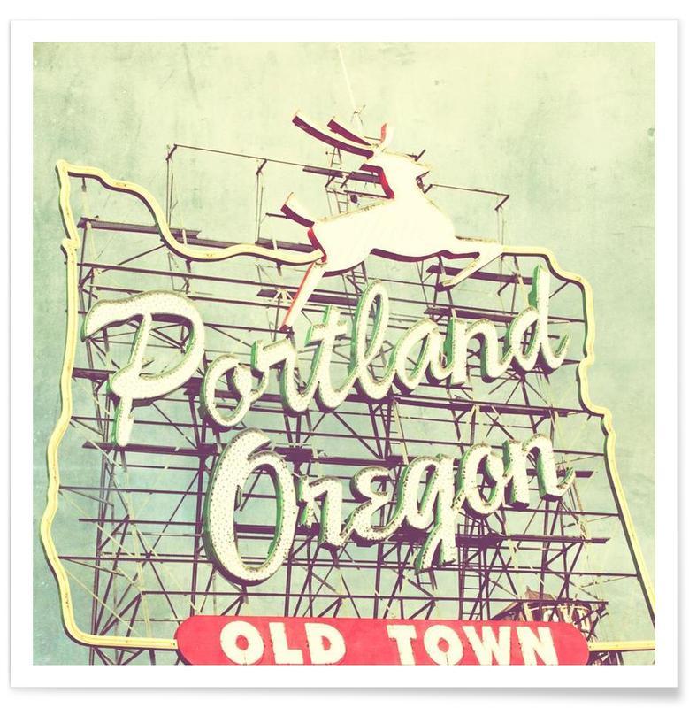 Détails architecturaux, Rétro, Portland Dear affiche