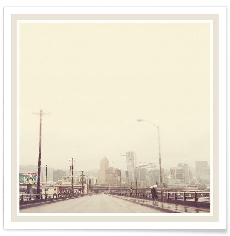 Rainy Spring Portland poster