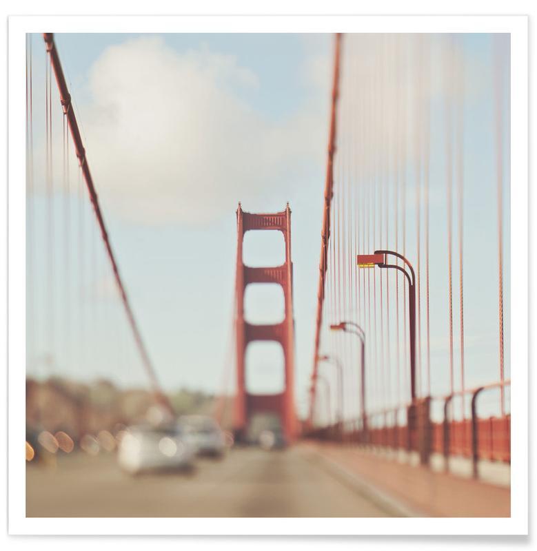 Brücken, San Francisco, Sehenswürdigkeiten & Wahrzeichen, A Memory San Francisco -Poster