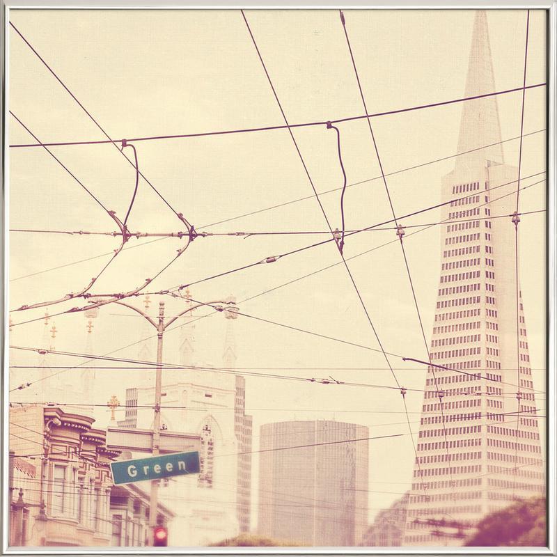 Lines + Lines Poster in Aluminium Frame