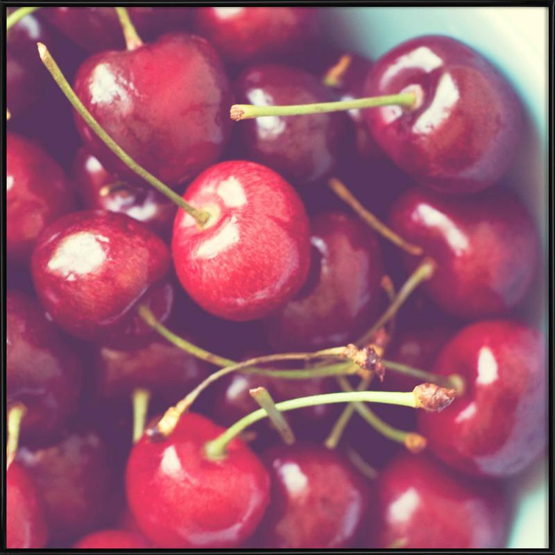 Cherry Bowl -Bild mit Kunststoffrahmen
