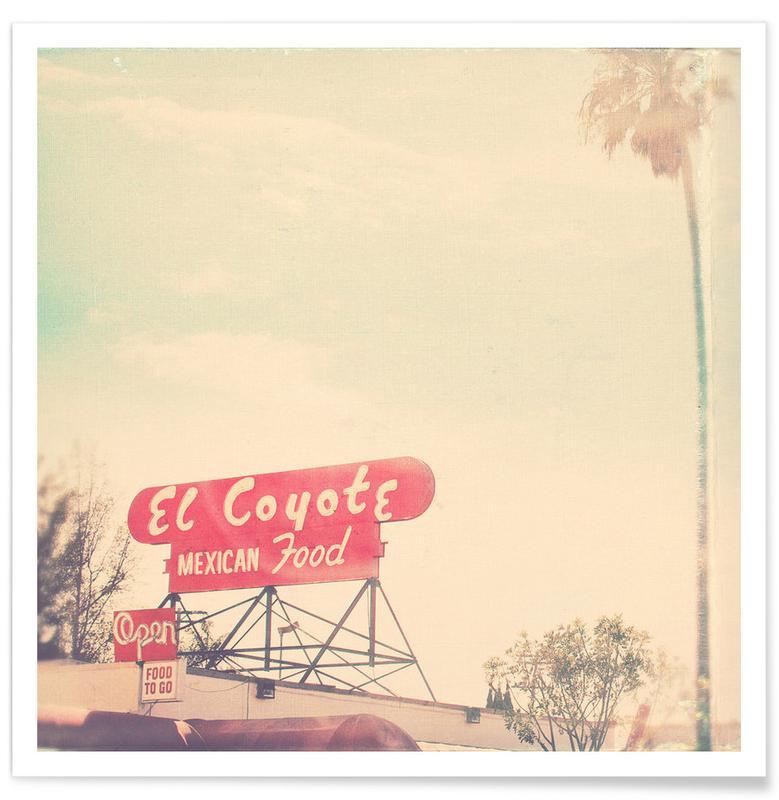 Détails architecturaux, el coyote affiche