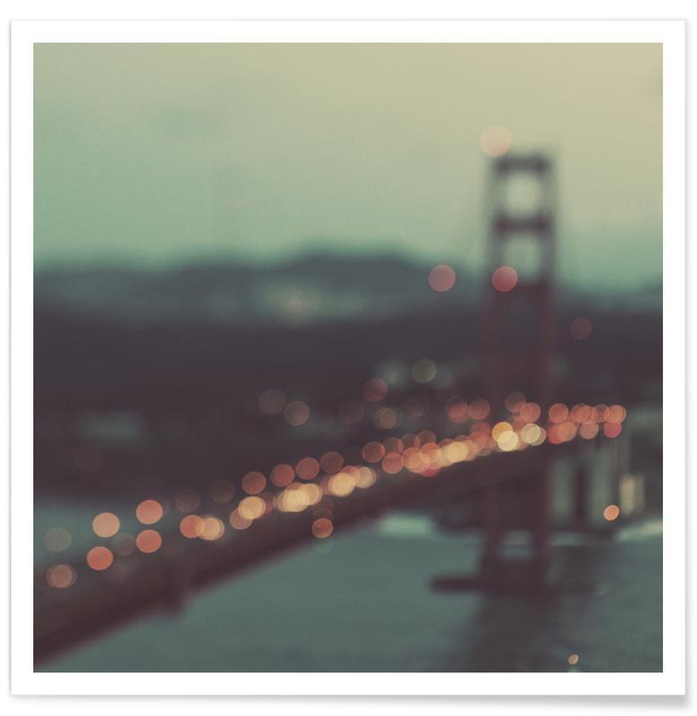 San Francisco, Sehenswürdigkeiten & Wahrzeichen, West Coast -Poster