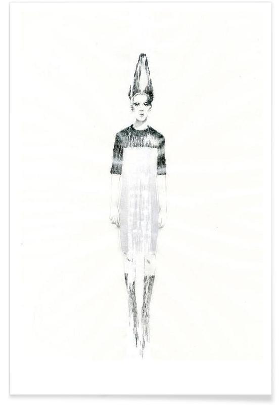 Noir & blanc, Illustrations de mode, […] IV affiche