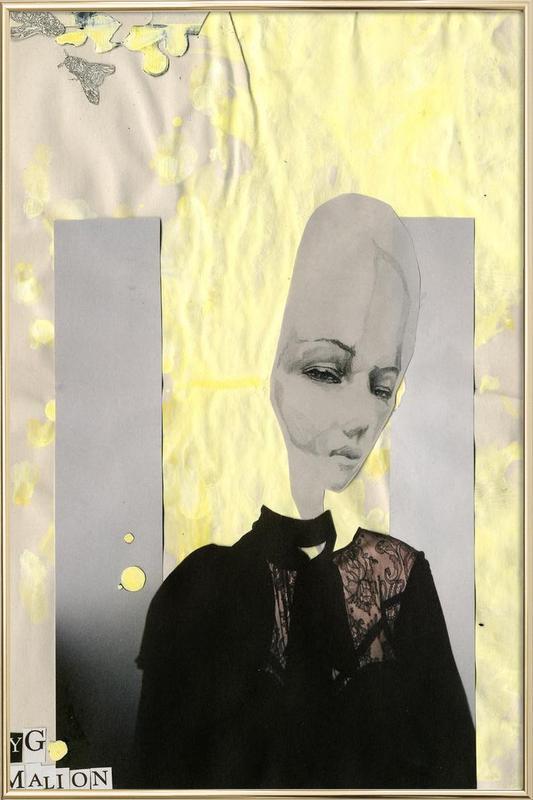 [ˈpapa] V Poster in Aluminium Frame