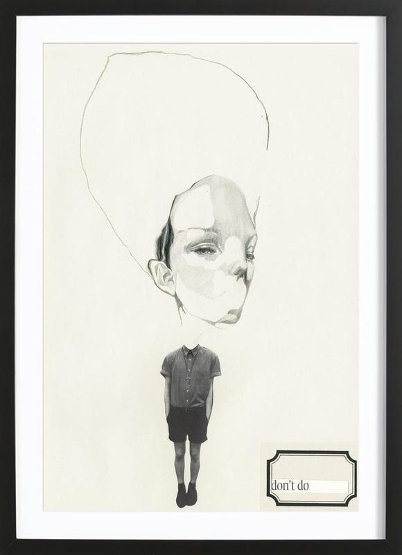 [dəʊnt] I Framed Print