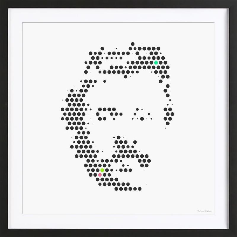 Friedrich Nietzsche in Dots Framed Print