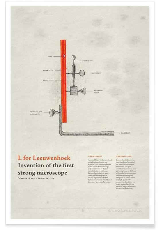 L for Leeuwenhoek affiche