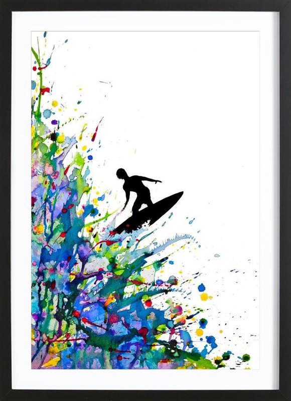 A Pollock's Point Break Framed Print