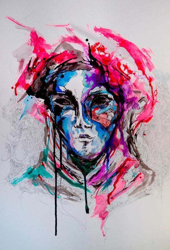 Masq Acrylic Print