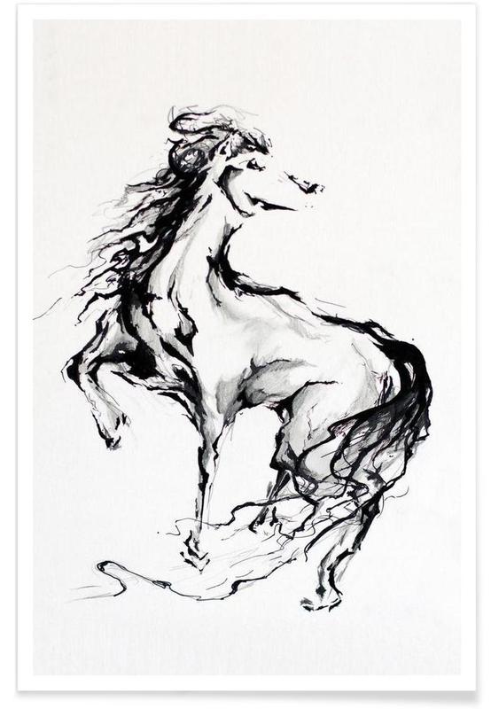 Sort & hvidt, Heste, Pride Plakat