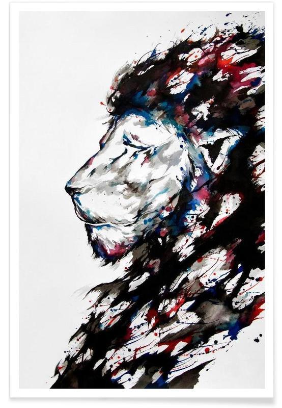 Lions, Repose affiche