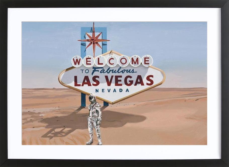 Leaving Las Vegas -Bild mit Holzrahmen