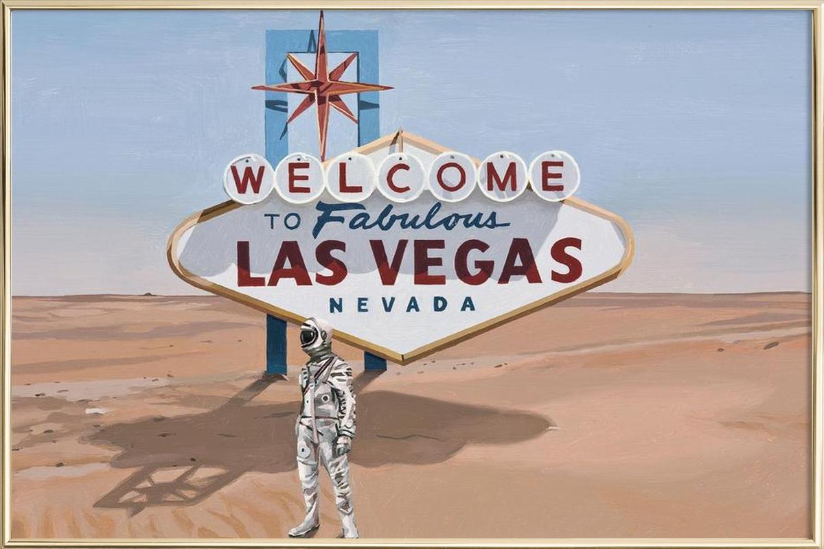 Leaving Las Vegas affiche sous cadre en aluminium