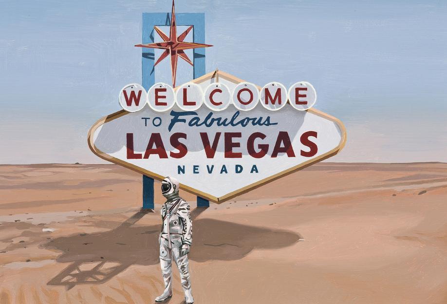 Leaving Las Vegas -Acrylglasbild