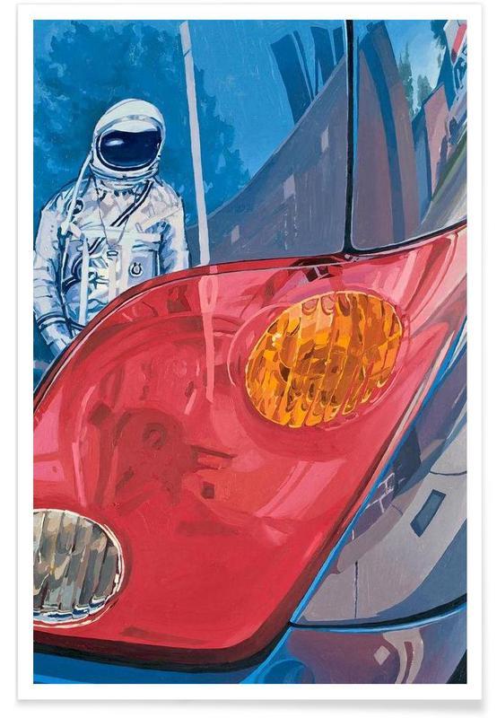 Astronautes, Reflection affiche