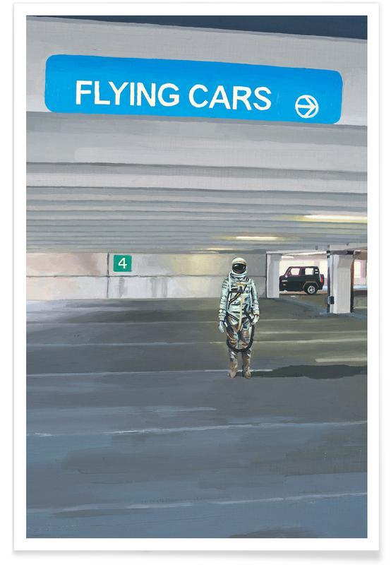 Astronautes, Flying Cars To The Right affiche